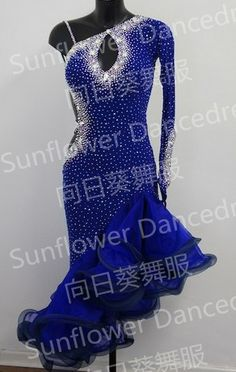 royalblue  Latin dance dress,ballroom dress Rumba Jive Chacha Ballroom Latin Dance Dress Girls Women $218.00