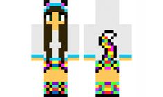 minecraft skin Rainbow-Cat-Girl Find it with our new Android Minecraft Skins App: https://play.google.com/store/apps/details?id=the.gecko.girlskins