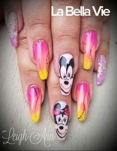 Mickey Mouse Nails Mickey Mouse Nails, Hair Beauty, Cute Hair