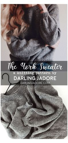 Easy Sweater Knitting Patterns, Easy Knitting Projects, Knitting Wool, Knitting For Beginners, Knit Patterns, Knitting Needles, Vogue Knitting, Diy Knitting Ideas, Knit Sweater Patterns