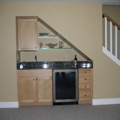 use of space Small Basement Kitchenette Ideas  small basement ideas ...