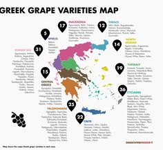Greek Wine - Greek Grape Varieties Map