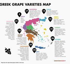 Greek Wine - Greek Grape Varieties Map
