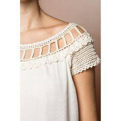US$ 1,490.00 - Off Alice Crochet Top - Vanessa Montoro USA - vanessamontorolojausa