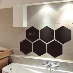 Aiwall 220 DIY Removable Fashion Hexagon Blackboard Art Mural Vinyl Waterproof Wall Stickers Kids Room Decor Nursery Decal Sticker Wallpaper ** Visit the image link more details.