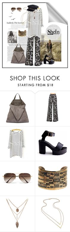 """Inspired By Hippy Style"" by ul-inn ❤ liked on Polyvore featuring TSATSAS, Alice + Olivia, Blanc Noir, Ray-Ban, Jennifer Zeuner and Eugenia Kim"