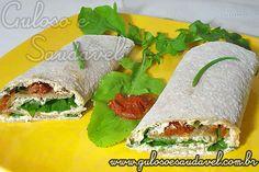 Sanduíche de Pão Sírio » Receitas Saudáveis, Sanduíches » Guloso e Saudável