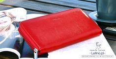 Czerwony portfel - kopertówka - Portfele, sklep z portfelami , portfele skórzane