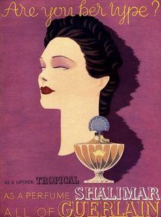 Vintage ad for Guerlain Shalimar.