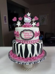 super cute SMALL cake This would be great for Michelles shower