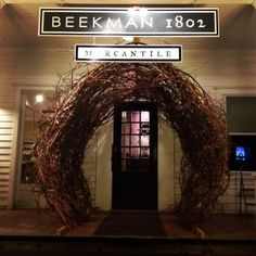 The Beekman 1802 Mercantile Holiday Window display