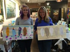 Our Canvas and Sip class from last night at the Art Insight Emporium