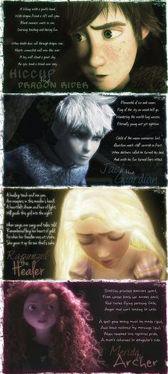 """The Epic Four by 1JoyDreamer on deviantART. Accckkkk the poem about Jack is so BEAUTIFUL I HAD to pin this. """"Eternally young, not yet eighteen."""" OHMYGOSH so beautiful...aaaagggh Im crying"""