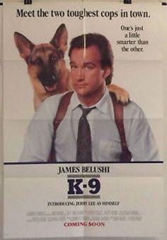 K-9 - JAMES BELUSHI / MEL HARRIS - ORIGINAL AMERICAN ONE SHEET MOVIE POSTER