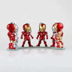 31.01$  Watch here  - Marvel Shield America Anime Avengers iron Man 3 Mini Egg Attack Ironman Light Action Figure Toys 6PCS 9cm Collection Model 0291
