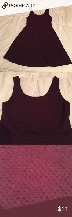 Dark Maroon Skater Dress Dark red/purple skater dress. Lined skirt and across chest. Scoop neck in front and back. Measures about 34in. from shoulder to hem. Bought at Target, worn a few times, good condition! Happy to post additional pictures or answer any questions! Mossimo Supply Co. Dresses Mini