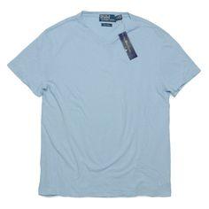 Ralph Lauren ラルフローレン リネン混紡 VネックTシャツ【$75】 [047]