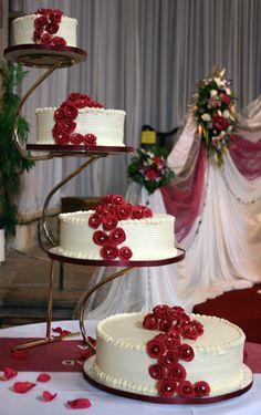 4 Tier Wedding Cake Stands cakepins.com