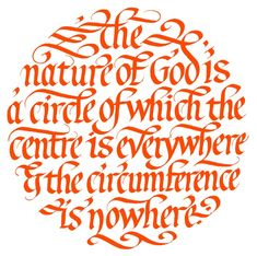 calligraphy ~ The nature of God is.....