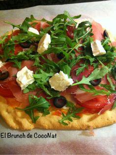 Pizza Paleo con Jamon y Rucula El Brunch de CocoNat