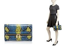 MILLY Clutch - Belize Snake-Embossed