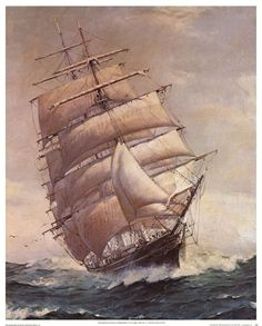 Tall Ship in the Storm