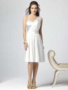 Spring wedding: love the length and hot the material ties into my wedding dress but is also that trendy one shoulder style