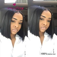 Raw Indian wholesale Remy human hair Lace front Wigs Human Hair natural looking 360 lace Wigs with babyhair short bob cut wigs freeshipping Bob Cut Wigs, Short Bob Wigs, Short Hair Wigs, Human Hair Lace Wigs, Short Bob Hairstyles, Remy Human Hair, Weave Hairstyles, Short Hair Styles, Remy Hair
