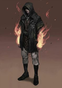 ArtStation - Just Wanderer, chahoon kim<<love this clothes design! Also fire mage! Character Creation, Character Concept, Character Art, Concept Art, Concept Album, Cyberpunk, Fantasy Male, Fantasy Inspiration, Character Design Inspiration