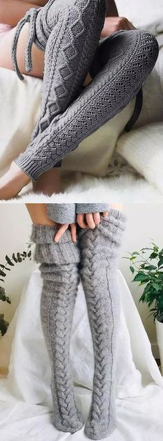 Swag Outfits For Girls, Cool Outfits, Thigh Socks, Farm Clothes, Crochet Slippers, Fall Fashion Outfits, Outfit Combinations, Knitting Socks, Couture