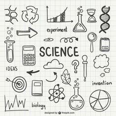 Science doodles for bullet journals Science Notebook Rubric, Science Notebook Cover, Notebook Cover Design, Notebook Covers, Science Notebooks, Notebook Labels, Notebook Doodles, Doodle Art, Doodle Drawings