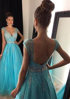 New Arrival Sexy Prom Dress Evening Dress Evening Dress with Beadings V-neck Floor Length