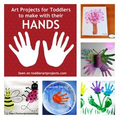{8} Art Projects for Toddlers to make with their hands... and feet! -