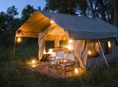 Tent at Chobe under Canvas private campsite