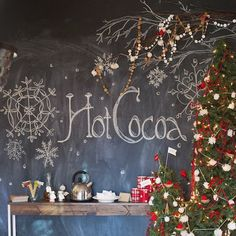 This hot cocoa station is just a taste (pun intended!) of the adorable cookie exchange party from @ashleypepitone @tulleandgrace @liddabitspaper and @campmakery on the #PotteryBarn blog! #hotcocoaeveryday ❄️