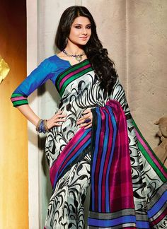 jennifer-winget-printed-bhagalpuri-silk-saree-sacvi12522-b.jpg (800×1100)