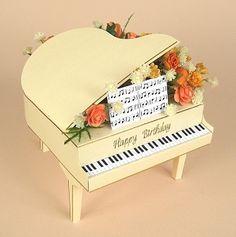 CARD MAKING TEMPLATES FOR GRAND PIANO & DISPLAY BOX