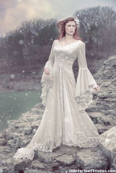 Victoria Lace and Velvet Medieval Gown- New Style!