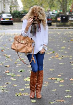 watch, sweater, boots