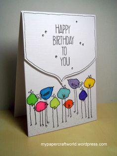 Happy Birthday to you Watercolor Birthday Cards, Watercolor Cards, Watercolour, Handmade Birthday Cards, Happy Birthday Cards, Birthday Greetings, Birthday Wishes, Diy Halloween Dekoration, Karten Diy