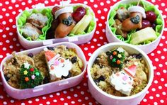Mini Santa Claus Christmas bento box by Bento Monsters