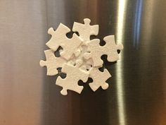 Puzzle Pieces to Snowflake | Chas' Crazy Creations