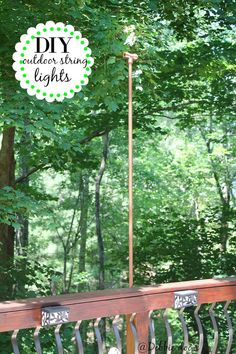 DIY outdoor string lights.  When you need lighting and have to improvise.  This was genius!