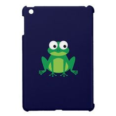 Cute Cartoon Frog iPad Mini Case. For frog fans everywhere. A cute cartoon frog sitting patiently waiting for you to give him a home.