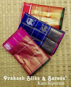 Bridal silk sarees from Prakash silks and sarees Prakash Silks Kanchipuram, Silk Saree Kanchipuram, Cotton Sarees Handloom, Banaras Sarees, Kanjipuram Saree, Pink Saree, Wedding Silk Saree, Bridal Sarees, Marathi Bride