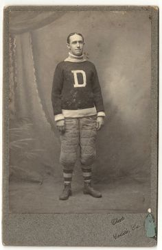 Circa 1890's Dickinson College Footbll Player cabinet photo.  The photographer is the famous Carlisle Indian School photographer Choate.