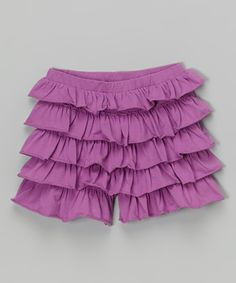 Lilac Tiered Ruffle Shorts - Infant, Toddler & Girls
