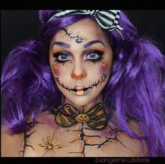 Super cute! I wish I could paint myself for Halloween