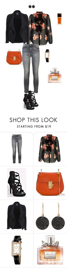 """""""Silk blouse"""" by ulusia-1 ❤ liked on Polyvore featuring Current/Elliott, Chloé, Majestic Filatures, Astley Clarke, Hermès, Christian Dior and Tom Ford"""