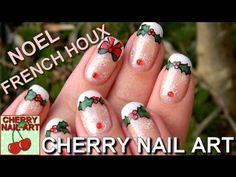 59 Trendy ideas for nails art nol strass Nail Art Noel, New Nail Art, Cool Nail Art, Holiday Nails, Christmas Nails, Long Black Nails, Cherry Nail Art, French Tip Nail Art, Nail Designs Spring